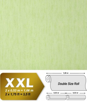 EDEM 908-08 plain wallpaper non-woven luxury vintage fabric textile look pastel green applegreen | 10,65 sqm (114 sq ft)